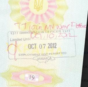 {amp}lt;Штамп: 1377 сотрудник иммиграционной службы 1377{amp}#xA;Въехать до 05.10.2012{amp}#xA;7 октября 2012{amp}#xA;трудоустройство запрещено{amp}#xA;Ямайка{amp}#xA;{amp}lt;Подпись{amp}gt;.{amp}gt;